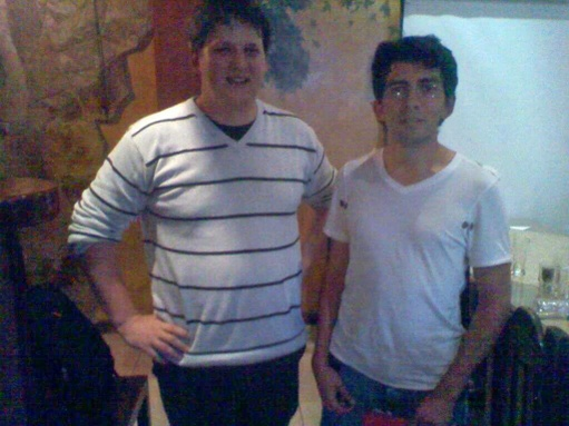 Fabien Pinckaers founder of Odoo and Andres Calle CEO of Trescloud in a metting in Quito Ecuador 18/10/2011